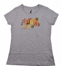 Roxy LOW TIDE GLIDE Heather Grey Yellow Red Brown Screenprint Junior's T-Shirt