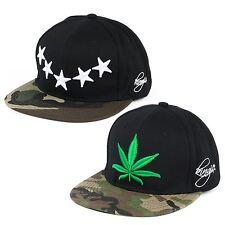 Stars/Leaf on Camouflage Peak Snapback Embroidered Hip Hop Hat