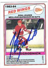 John Ogrodnick 1984-85 O.P.C AUTOGRAPH HOCKEY CARD