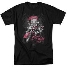 Betty Boop Biker Babe T-shirts for Men Women or Kids