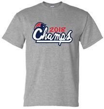 GRAY Tom Brady New England Patriots 2018 Super Bowl Champs T-Shirt