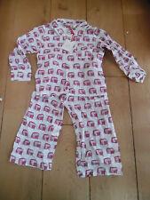 Blink sommeil blanc rose rickshaw imprimer pyjamas ensemble 100% coton 2 3 ans Nouveau