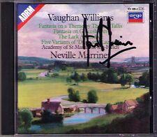 MARRINER Signed VAUGHAN WILLIAMS Tallis Fantasia Green Sleeves Lark Ascending CD