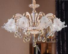 European luxury crystal ceiling lights zinc alloy LED chandelier wall lighting R