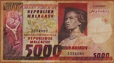 Madagascar, 5000 Francs ND (1974) P-66, Circulated A/19