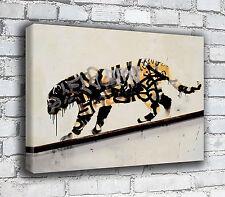 Banksy Canvas - Tiger