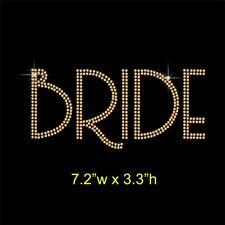 Bride Rhinestone Transfer Hotfix Iron on Applique Motif Choice of Colours
