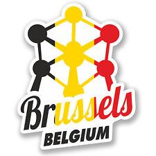 2 x Brussels Belgium Vinyl Sticker iPad Laptop Travel Luggage Gift Flag #4347