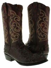 Mens Black Cherry Crocodile Western Cowboy Boots Hornback Design Leather J Toe
