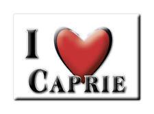 CALAMITA PIEMONTE ITALIA FRIDGE MAGNET MAGNETE SOUVENIR I LOVE CAPRIE (TO)