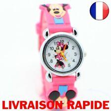 Montre Dessin Animé 3D Minnie Mickey Enfant Fille Garçon Disney Bracelet Quartz