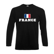 Longsleeve FRANCE (Frankreich) Flagshirt, Fanshirt langarm T-Shirt (WMS02-21b)