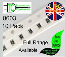 0603 SMD Resistors 1% Full Range Available (10 Pack) **UK Seller** Free P&P