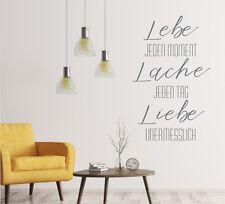 Wandtattoo - Lebe Lache Liebe, Aufkleber, Wandgestaltung,  Familie