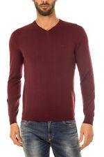 Maglione Armani Jeans AJ Sweater Pullover % Uomo Bordeaux 8N6M926M12Z-1492