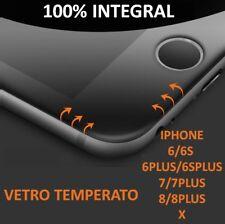 PELLICOLA VETRO TEMPERATO INTEGRAL 4D CURVO PROTEZIONE PER IPHONE X/6/7/8/PLUS