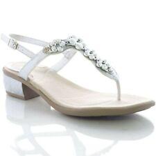 SCHOLL sandali infradito donna DOLLIE gioiello ARGENTO tacco plantare Gelactiv