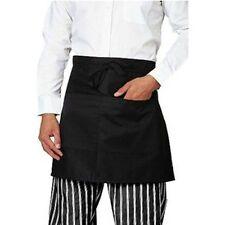 Damen Herren Universal-Unisex-Küche Taille Schürze Kurz Schürze Kellner-Schürze
