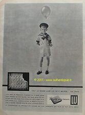 PUBLICITE BISCUIT LU PETIT BEURRE LEFEVRE UTILE NANTES 1958 FRENCH AD ECOLIER
