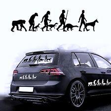 Autocollants Pour Voiture Film De Sticker Evolution Chien Dobermann