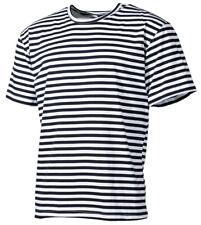 Rusa marineshirt de rayas camiseta algodón hombres BW Outdoor manga corta NUEVO