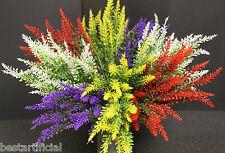 Best artificiel 36 cm lavande Heather spray tiges Mariage Floral afficher