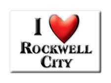 SOUVENIR USA - IOWA FRIDGE MAGNET I LOVE ROCKWELL CITY (CALHOUN COUNTY)