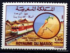 Yt 932  MAROC timbre  Neuf ** TTB  Ligne ferroviaire de l'Unité