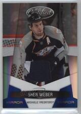 2010-11 Certified Mirror Blue #82 Shea Weber Nashville Predators Hockey Card