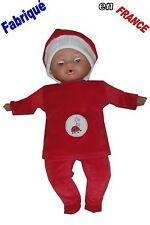 Ensemble pyjama NEUF pour Bébé Corolle 30-36 cms Ref.rouge coccinelle