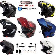 Motorrad BluetoothHelme VIPER Klapphelm ModularHelm Flip Front V171 Touren Helme