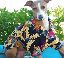 Woodies Surfer Wagon Print Hawaiian Dog Camp Shirt XXS-M USA Made, Dogs Puppies