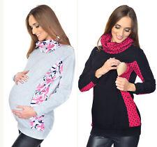 """MIJA 2 in1 Maternity & Nursing breastfeeding Sweatshirt Hoodie Pullover """"Lucy"""""""