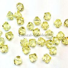 4mm Jonquil (213) Genuine Swarovski crystal 5328 / 5301 Loose Bicone Beads