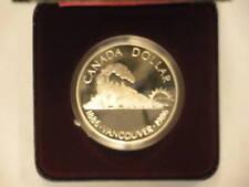 Canada 1986 silver dollar, Vancouver, w/ display case