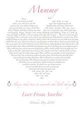 Nueva Mamá Regalo Recuerdo Amor Corazón Personalizado poema Enmarcado/impresión sin enmarcar