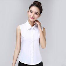 Women Fake False Collar Chiffon Detachable Sleeveless Shirt Blouse Bib Lapel New