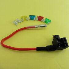 ADD Circuit Fuse Holder Piggy back Tap + 12V Micro Fuse 10A 15A 20A 25A 30A