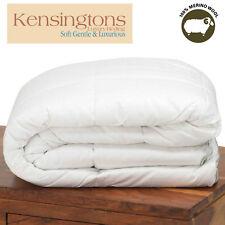 naturelle Merino laine Housse de couette coton égyptien toutes saisons Tailles &