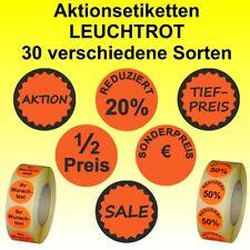 Aktionsetiketten - Sonderpreis / Reduziert - verschiedene Sorten - rund 30 mm