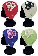 BLUE REEF Bubble Tokyo Floral Ladies Stylish Elegant Chin Strap Swimming Hat Cap