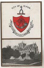 Ripon - Photo Postcard 1906 / Town Crest