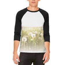 Field Of Wishes Dandelions Mens Raglan T Shirt