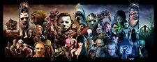 """Classic Horror movie protagonist Art silk poster print 12x29"""" 20x49"""" 24x59"""""""
