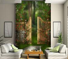 3D Plant green fence 5123 Paper Wall Print Decal Wall Wall Mural AJ WALLPAPER GB