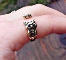 Owl Ring - Adjustable Open Wrap Bird Ring - Bird Gift Jewelry Stocking Stuffer
