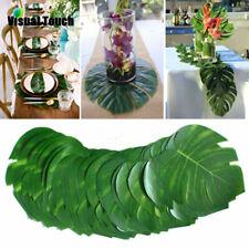 Fabric Artificial Tropical Palm Leaves Simulation Monstera Leaves Hawaiian Decor
