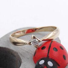 Anello Solitario con diamante per fidanzamento da donna in oro giallo 9kt.(375‰)