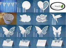 Party Deko SET Ornament Hochzeit Geburtstag Taufe Cup Cackes Platzkarten an Glas