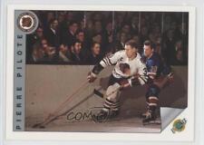 1991-92 Ultimate Original Six #63 Pierre Pilote Chicago Blackhawks Hockey Card